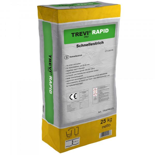 Ausgleichsmasse Schnellabbindender Zementestrich Bodenausgleichsmasse TREVI PRO RAPID