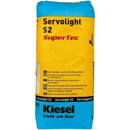 Fliesenkleber für Wandfliesen und Bodenfliesen von Kiesel Servolight S2 SuperTec