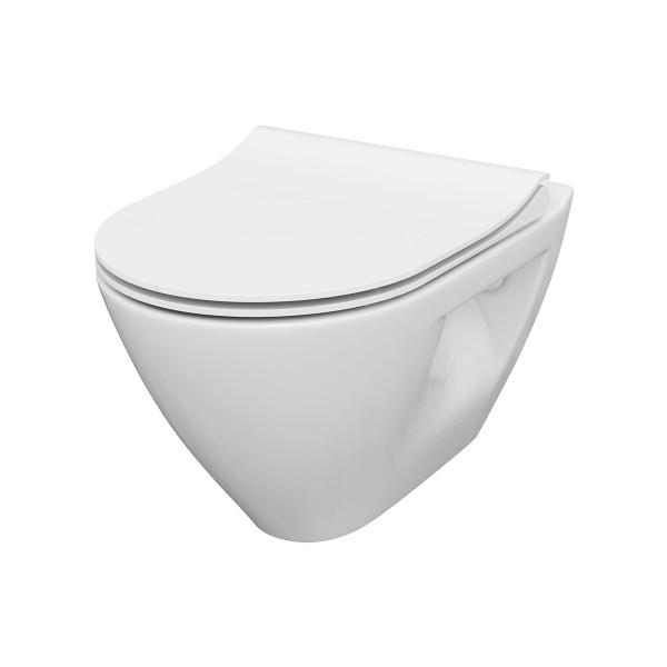 WC Wand-Tiefspül-WC Ubud oval spülrandlos Absenkautomatik