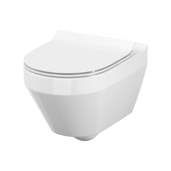 WC Wand-Tiefspül-WC Kuta oval spülrandlos Absenkautomatik