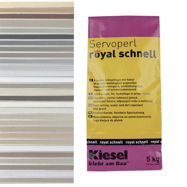 Fliesenfugen für Bodenfliesen Wandfliesen und Mosaikfliesen Servoperl royal schnell 5KG