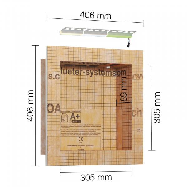 Schlüter-KERDI-BOARD A mit LIPROTEC-Technik LED A