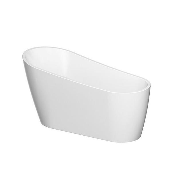 Freistehende Badewanne - Acryl mit Ablaufgarnitur Nusa Oval