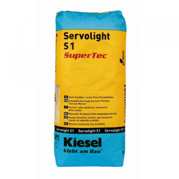 Fliesenkleber für Wandfliesen und Bodenfliesen von Kiesel Servolight S1 SuperTec