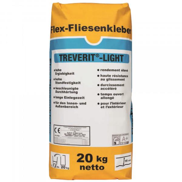 Fliesenkleber für Innenbereich und Außenbereich, an Wand und Boden Trevi Licht 20Kg
