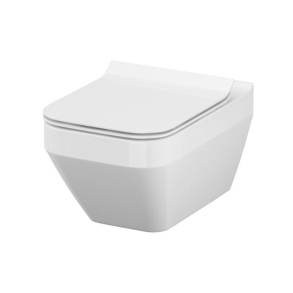 WC Wand-Tiefspül-WC Kuta recheckig spülrandlos Absenkautomatik