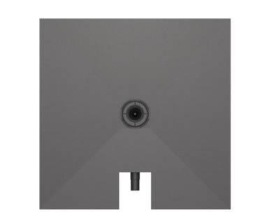 """Duschelement """"Fundo Plano"""" mit integriertem Ablauf 100x100cm"""