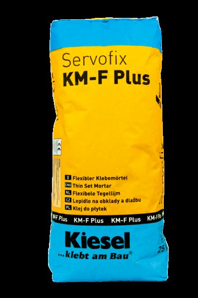 Fliesenkleber für Wandfliesen und Bodenfliesen von Kiesel Servofix KM-F Plus 25kg