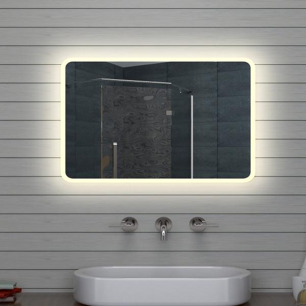 Design LED Badezimmerspiegel Badspiegel Wandspiegel Lichtspiegel 70x50cm M1575