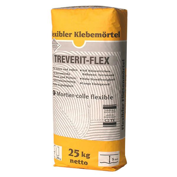 Fliesenkleber für Innenbereich und Außenbereich, an Wand und Boden TREVERIT FLEX 25Kg